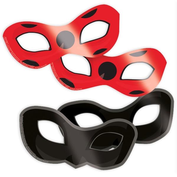 Miraculous Masken, 8er Pack Ladybug-Partymasken mit Gummi