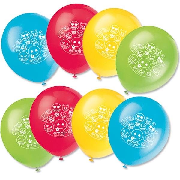 Emoji Rainbow Fun Luftballons, 8 Stk, 30,4cm