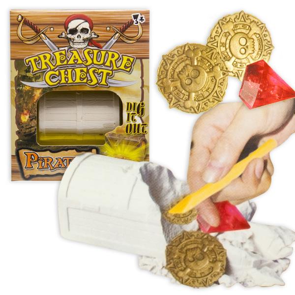 Piraten Ausgrabungs-Spiel mit Gips-Schatzkiste