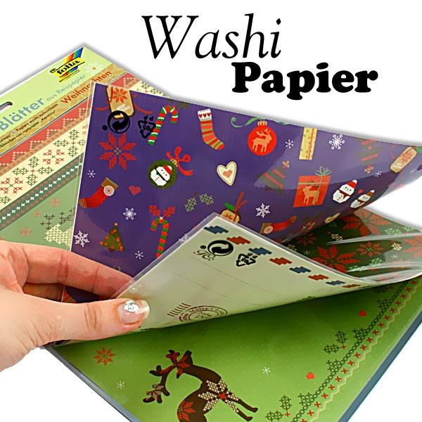 Washiblätter WEIHNACHTEN DIN A4, 5 Blatt, wieder ablösbar, beschriftbar...
