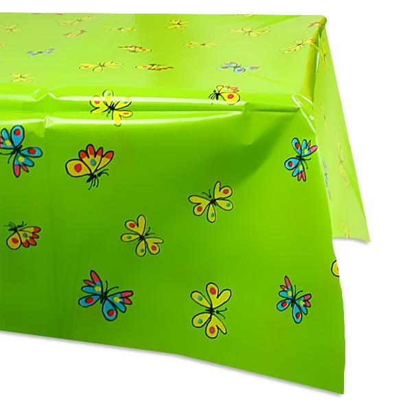 Mein Ponyhof Tischdecke mit vielen bunten Schmetterlingen,1,3 × 1,8 m