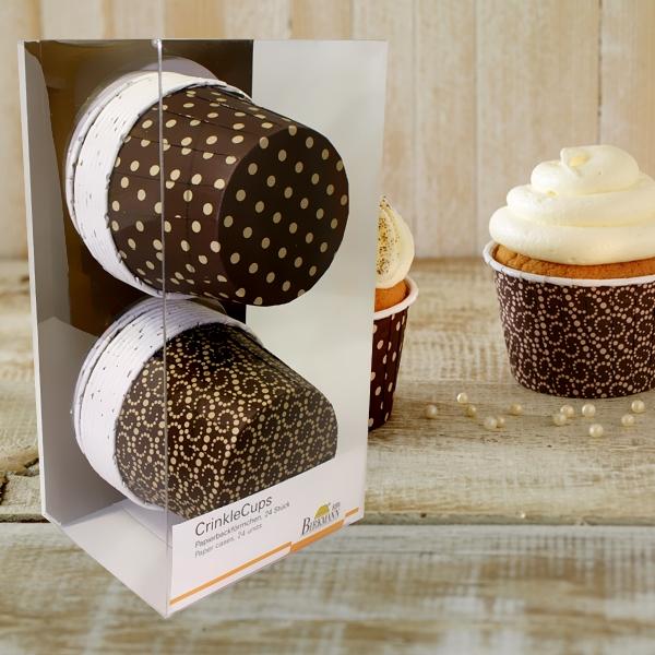 Muffinbackformen - Crinkles, schokofarben, 24er, 2 Designs