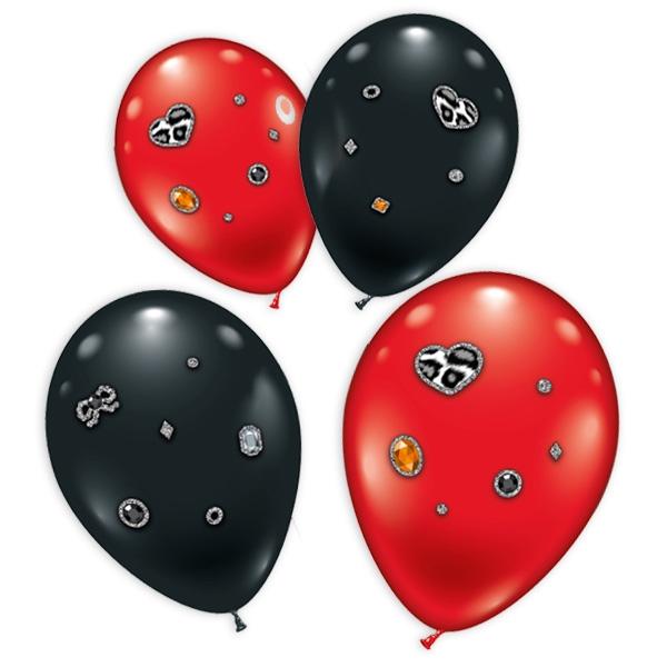 """Juwelen-Ballons """"Leopard"""" im 4er Pack"""