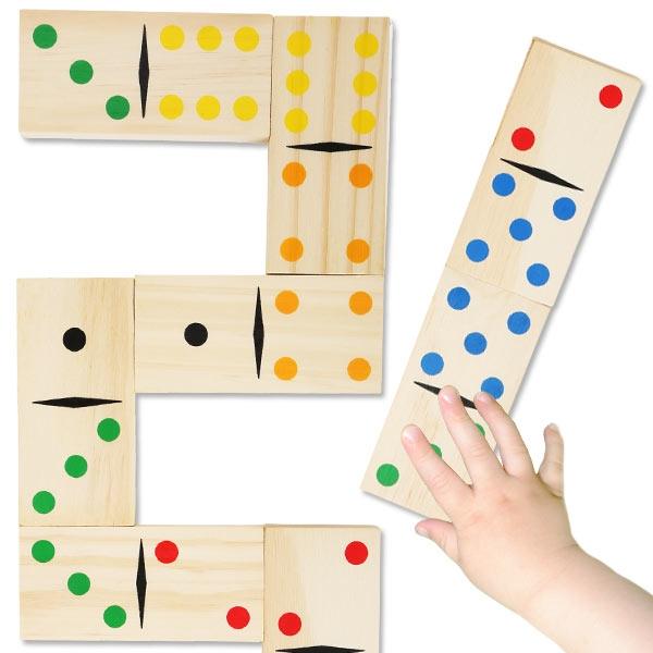 Domino Gigant, 28 Holz-Steine, 9,5cm