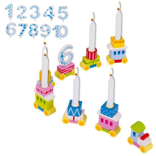Goki Geburtstagszug + Zahlen 1 bis 10! 37,5cm
