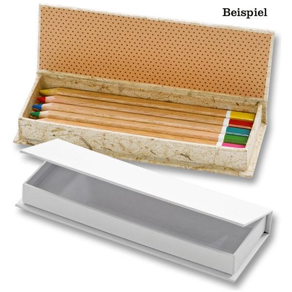 Stiftebox Schachtel in weiß, zum Bemalen und Gestalten,