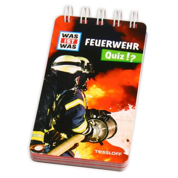 """WAS IST WAS Quizblock """"Feuerwehr"""" mit 100 Rätselfragen über die Helden"""