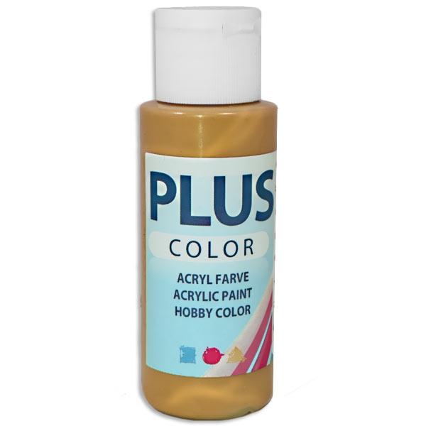 Bastelfarbe Plus Color, Farbe Gold, 60ml, hohe Deckkraft u. Intensität