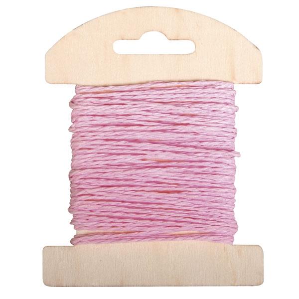 Papier Kordel 10m, Farbe: Babyrosa, super zum Basteln und Nähen
