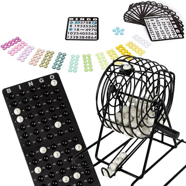 Bingospiel, Set für Kinder & Senioren: Bälle, Karten, Käfig, Anleitung