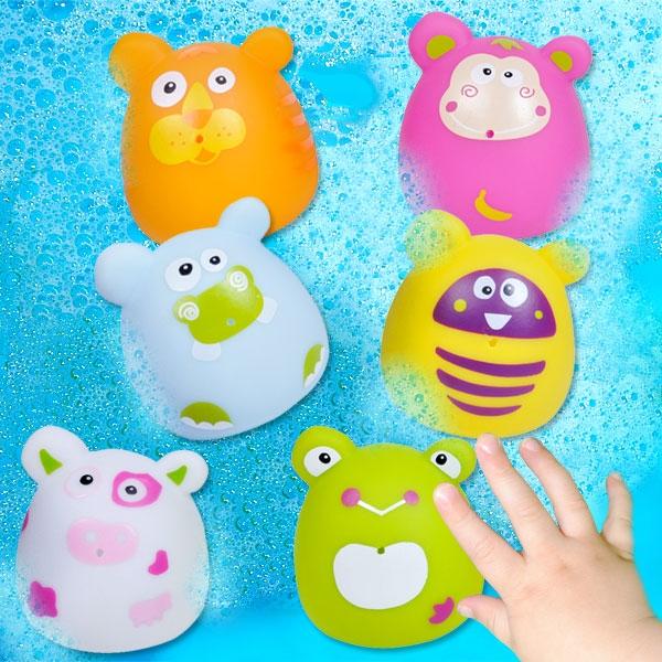 Wasserspritztierchen Bubbies, 6 Stk, 6cm, tolles Badewannenspielzeug