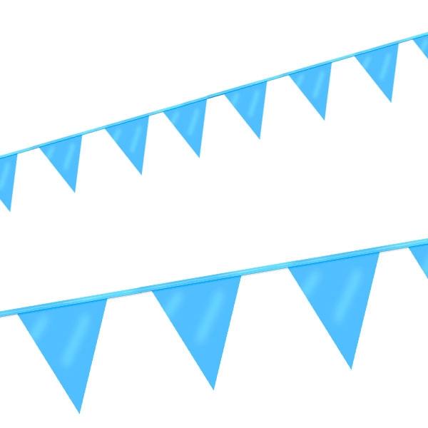 Mini Wimpelkette in Blau mit 12 Wimpeln aus Folie, 3m lang