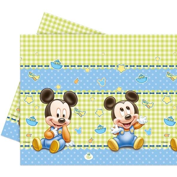 Mickymaus Baby Tischdecke 1,2×1,8m für Babypartys/Disneypartys, Folie