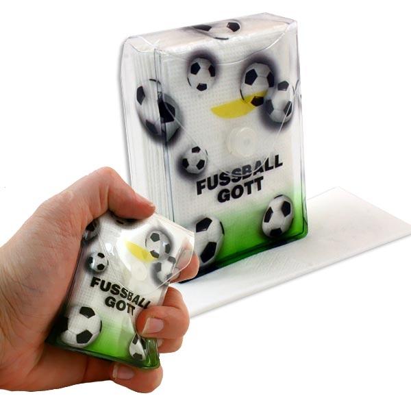 Fussballgott Taschentuch-Box, individuell, plus Taschentücher, 6cm x 8cm