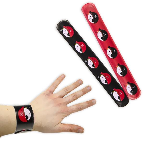 Schnapparmband Pirat, cooler Piratenschmuck für Kinder, 1 Stück