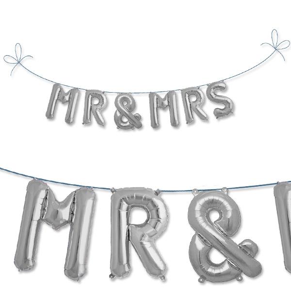 Mini Folieballon Set MR & MRS als Hochzeitsballon, Deko für Hochzeit