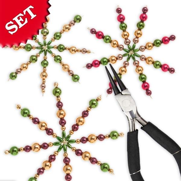 """Bastelset Perlensterne """"Klassik"""" für tollen Weihnachtsbaumschmuck"""