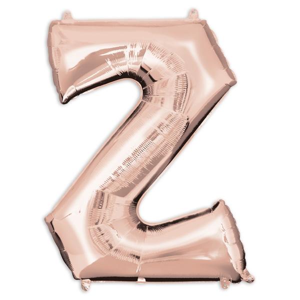 "Folienballon Buchstabe ""Z"" - Rosé Gold"