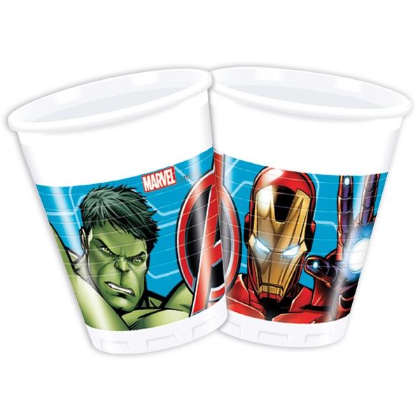 Avengers Partybecher im 8er Pack, 0,2l