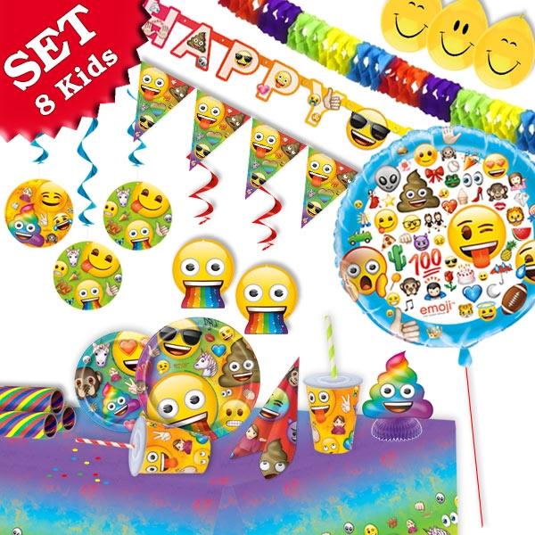 Mottoset Emoji XL, für 8 Kids, 92 tlg