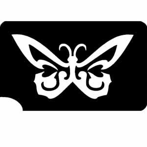 Tattooschablone mit Schmetterlingsmotiv, selbstklebend  7,3x4,7 cm
