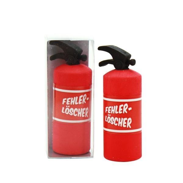 Radiergummi als Feuerlöscher 6 cm, Mitgebsel Feuerwehrparty, 1 Stück