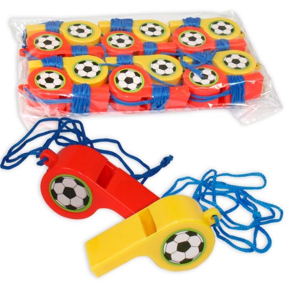 Fussball-Pfeifen im 12er Pack, Mitgebsel zur Kidsparty