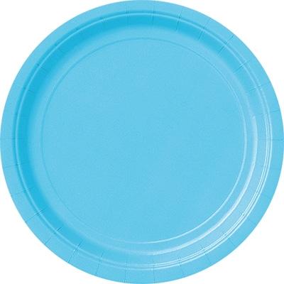 Pappteller hellblau, Durchm. ca.23cm, 8er-Pack