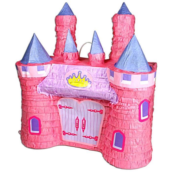 Märchenschloß/Traumschloß-Pinata rosa f. Mädchengeburtstag Mottoparty Prinzessin