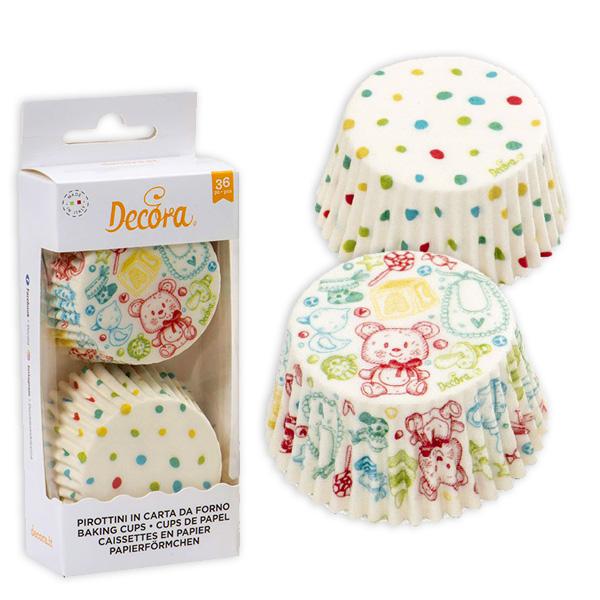 Baby Muffinförmchen, 36 Stück in 2 Designs