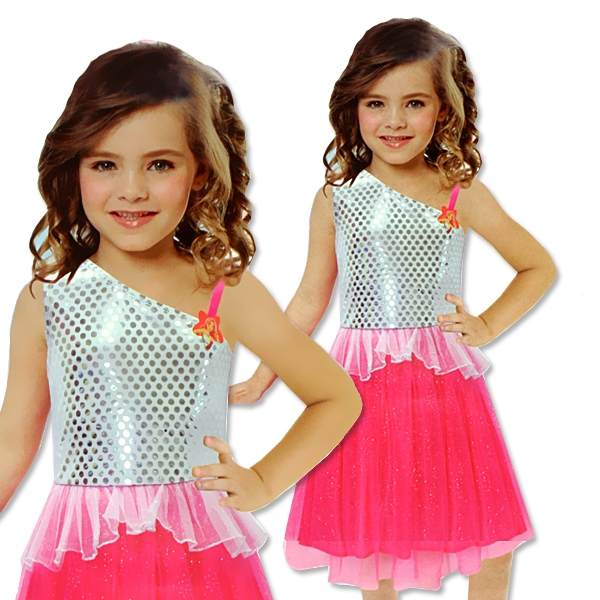 Kostüm Barbie Rocks Größe S, Kinderkostüm für Barbiefans