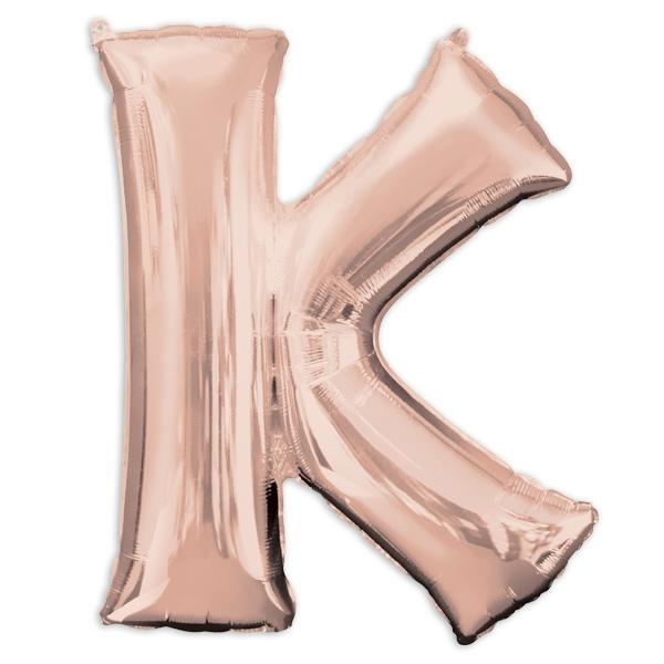 "Folienballon Buchstabe ""K"" - Rosé Gold"