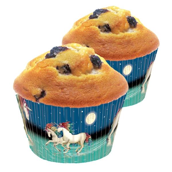 40 Lunabelle Muffinförmchen, für Einhorn Mottopartys oder Kindergeburtstag