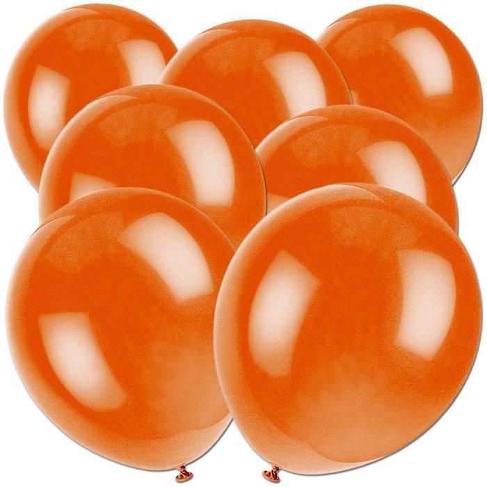 Luftballons in Orange aus Latex für Deko und Ballonspiele, 50 Stück