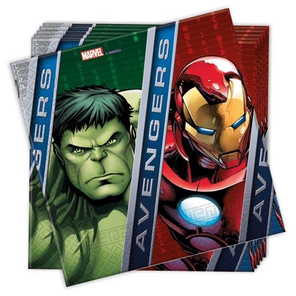 Servietten Avengers, 20 St., 33cm