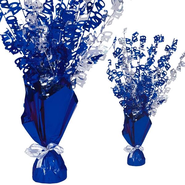 """Ballongewicht  Zahl """"40""""-Tischdeko, metallic blau"""