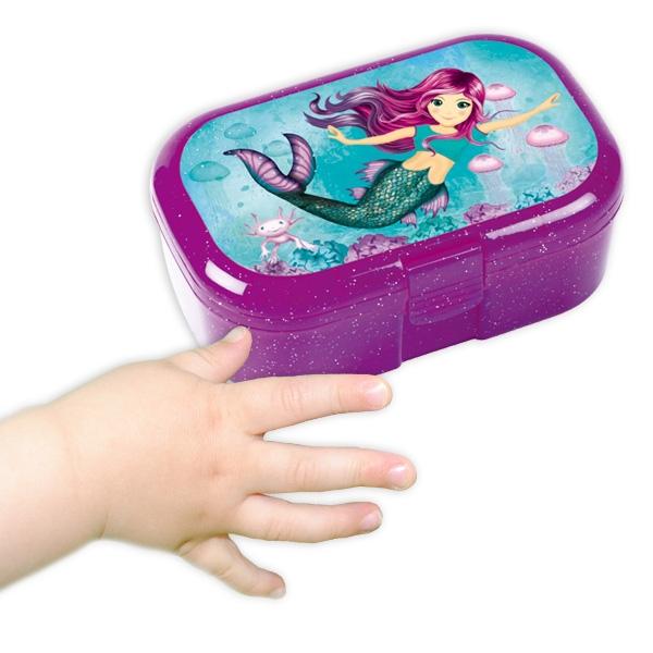 Meerjungfrau Mini-Lunchbox, 10,5cm x 7cm