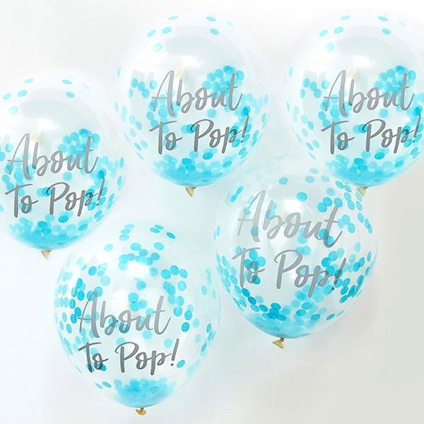"""""""About to Pop!"""" Konfetti-Ballons, 5 Stück"""
