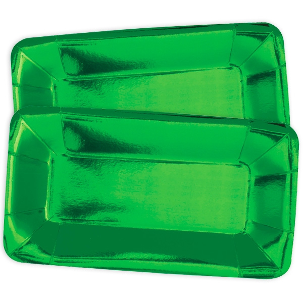 Servierteller, metallic grün, 8er Pack
