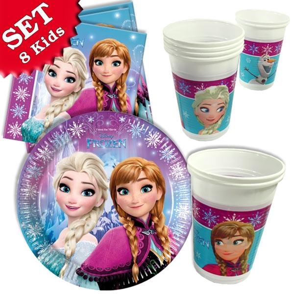 Basic Set Frozen - 36 Teile für bis zu 8 Anna- und Elsa-Fans