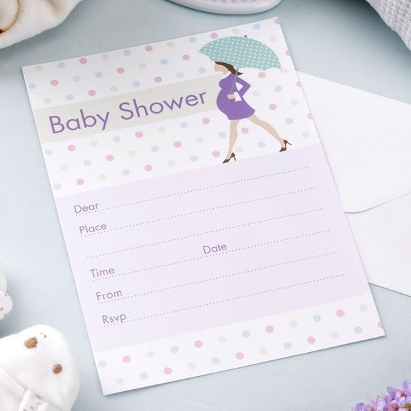 Babyparty - werdende Mama, Einladungskarten, 10 Stück mit Umschlägen
