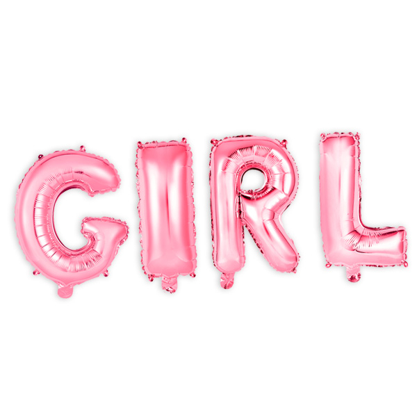 """Folienballons """"GIRL"""", 41cm hoch"""