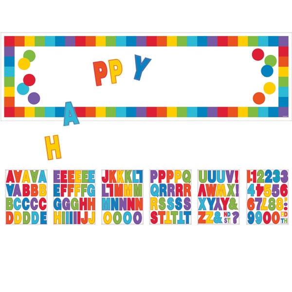 Rainbow Poster , personalisierbar mit vielen Stickern, 165 × 50 cm, Folie