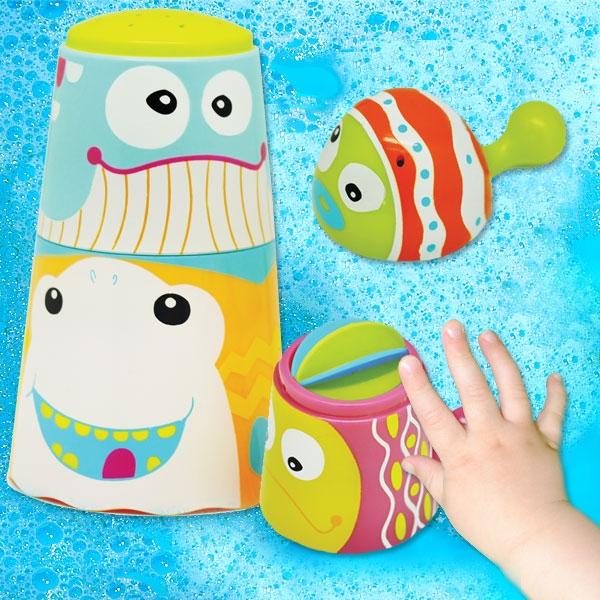 """Badewannenspielzeug """"CraZy Fountain"""" 4-tlg, Stapelbecher"""