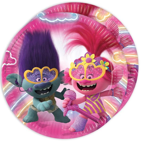 """Partyteller """"Trolls 2: World Tour"""", 8 Stück, 22,5 cm"""