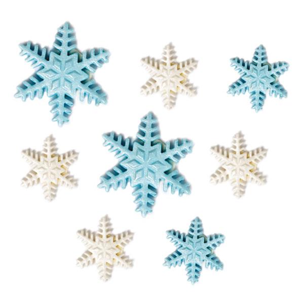 Zuckerdekore, Eiskristalle, 9 Stück, 2,5cm - 4cm
