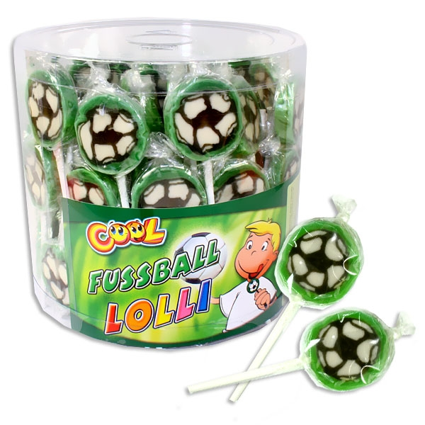 Großpack Fussball Lutscher, 100 Stück Rocks Lutscher mit Fußball