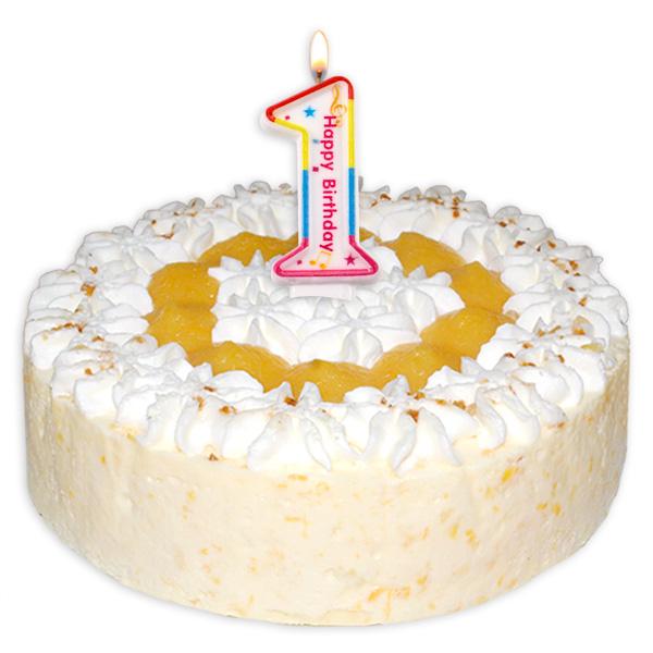 "Zahlenkerze ""1"" mit Happy-Birthday-Aufdruck"