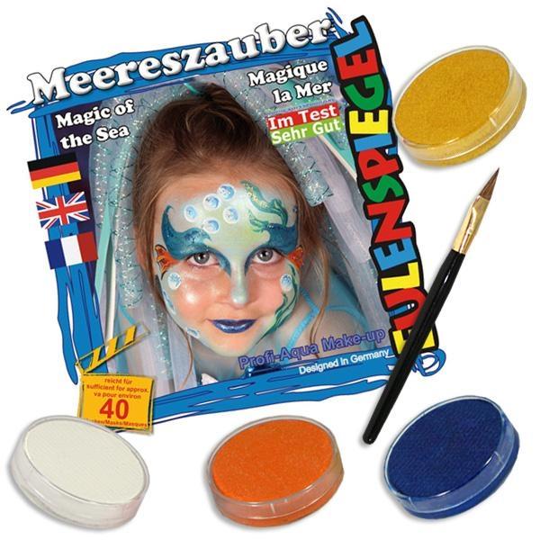 Schminkset Meereszauber +4 Farben, reicht für ca. 40 Schminkmasken
