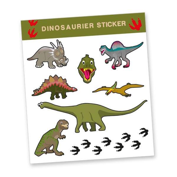 """Stickerbogen """"Dinosaurier"""" mit 8 Stickern"""